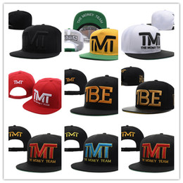 Wholesale Baseball Full Cap Hat - Top Sale Newest Fashion Wholesale-Full black the team money Snapback caps hiphop adjustable hat men & women classic baseball Hats Cheap