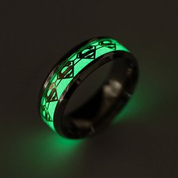 2019 midi metal Las mujeres y los hombres americanos de acero inoxidable pareja vintage midi anillos de oro y plata patrón de superman anillos de metal joyas accesorios midi metal baratos