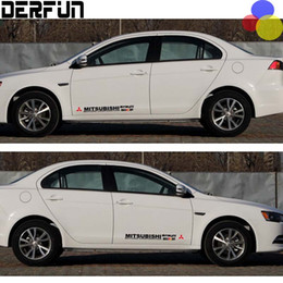 Wholesale Mitsubishi Lancer Montero Outlander Ralliart design car side door decor stickers and decals reflective vinyl car styling