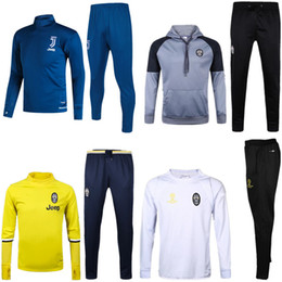 Wholesale Football Training Trousers - 2017 high quality JUVA football training survetesuit jerseys and trousers survetement 2017- 18JUVA sweater sportswear football training suit
