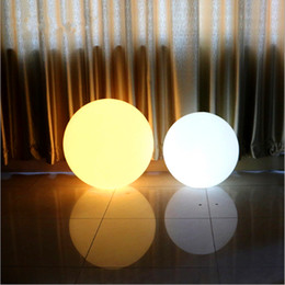 Wholesale Led Sphere Lights - Wholesale- 60cm Rechargeable Cordless Outdoor LED Lighted Lawn Ball Color Changing Plastic Remote Control Sphere vanity lights