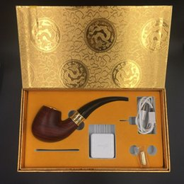 Wholesale China Cigarette Starter Kits - China manufacture E-pipe 618 Pipe electronic cigarette Set Series old-fashioned smoking pipe style electronic smoking pipe starter kit