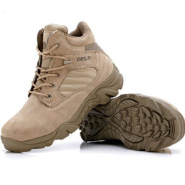 Wholesale Desert Combat Tactical Boots - High-quality Autumn Winter Tactical Boots Round Toe Men Desert Combat Boots Outdoor Mens Leather Army Ankle Boots