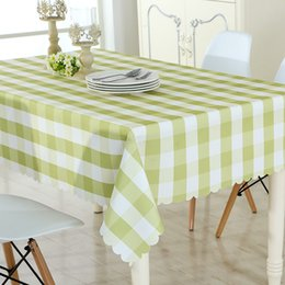 Wholesale Blue Coffee Table - Elegant Style Waterproof Fabric Polyester Tablecloth Rectangular Lattice Coffee Table Tea And Dining Table Cloth Cover Cloth Towel