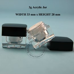 Wholesale Pastic Containers - Promotion 30PCS LOT High Quality Pastic 3G Acrylic Cream Jar 1 10OZ Women Cosmetic Container Facial Cream Pot Small Packaging