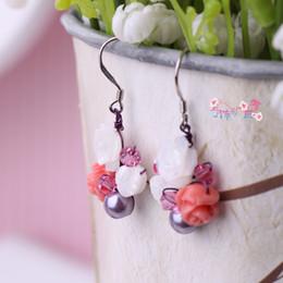 Wholesale Shell Earings - New flower earrings boucle d'oreille femme marque high quality dangle earring for woman Seashells earings fashion jewelry