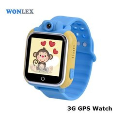 Wholesale Gprs 3g Camera - Wholesale Wonlex GW1000 Q200 GPS+GPRS+LBS+SOS Calling Watch GW1000 Wifi Bluetooth 3G Moblie Phone Watch GPS Tracker FOR Kids Children
