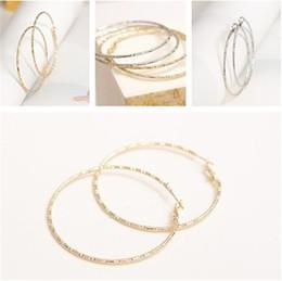 Wholesale Ear Jewellry - Golden silver Ear Stud personality Earings Jewelry Accessories Simple Earing Big Circle Earrings Eardrop Jewellry CA512