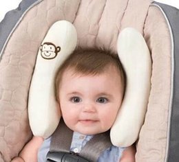 Wholesale Baby Capsule - soft summer Infant baby adjustable protection pillow head necksupport fitted car seat stroller accessories pram capsule pillow