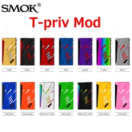 Wholesale Original Smok T PRIV W TC Box Mod with Adjustable Easy to read OLED screen Match for TFV8 Big Baby Tank Authentic SmokTech
