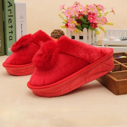 Wholesale Cute Casual Shoes For Women - Wholesale- Thick bottom winter house slippers for women fashion pantufa casual indoor home shoes fluffy slippers cute woman soft slipper