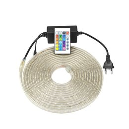 Wholesale Led Strip Waterproof White Silicone - Waterproof Silicone Tube 5050 LED Strip Light 60LEDs m 220V-240v RGB  White Warm White Lamp String Outdoor Indoor Lighting Decoration