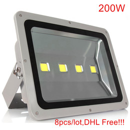 Types de projecteurs menés en Ligne-8pcs Ultrathin Led Flood Light 200W Led Floodlight Nouveau type Gris Shell AC85-265V Led Spotlight Éclairage extérieur
