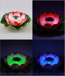 Luzes led lotus outdoor on-line-A água da piscina ao ar livre lâmpada solar LED lâmpada solar luz lótus lâmpada de lótus