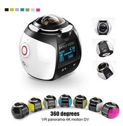Wholesale Used Pro Video Cameras - 4K V1 360 Degree Action Video Camera Wifi Mini HD 2448P 16MP Sports DV Action Panoramic Camera Video GO Waterproof PRO Yi Diving Cam