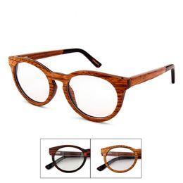5bfb52902aa Wholesale- High-grade Pure Wood Woman Glasses frame. Classical High-grade  Quality Designer eyeglasses Frame Men round frames .k c 6008