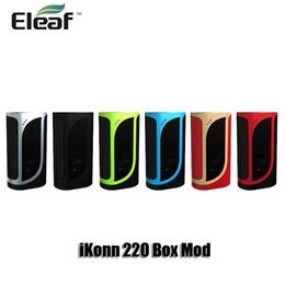 Wholesale Charge Mod Battery - 100% Orignal Eleaf iKonn 220 Box Mod VW TC 220W Daul 18650 Battery Mods With Battery Balancing Trickle Charge System
