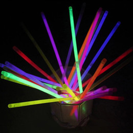 Wholesale Rave Necklace - Neon LED Light Sticks Multi Color Hot Glow Stick Flash Bracelet Necklaces Children Adults Party Rave Toys Gifts Free DHL 287