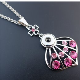 Wholesale Pink Plastic Skirt - White&Pink Mix Smart Rhinestone Skirt Noosa Chunks Metal Ginger 12mm Snap Buttons Necklace 50cm Link Chain Maxi Jewelry Wholesale
