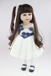 Wholesale Diy Princess Girl Gifts - Long hair, dressing, dressing, lovely princess, doll, popular in Europe and America, 18 inch doll, girl, toy gift