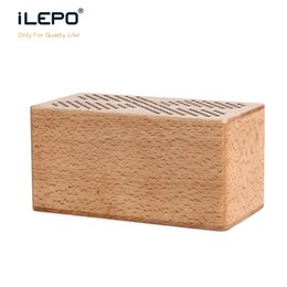 Wholesale Mobile Phone Hands Free - Multimedia Wooden Bluetooth hands-free Micphone Speakers with FM Radio TF USB MP3 Player retro Wood box bamboo Subwoofer Speaker