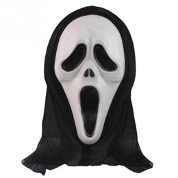 Wholesale Latex Scream Mask - Wholesale- New Halloween Mask Masquerade Latex Party Dress Skull Ghost Scary Scream Mask Face Hood