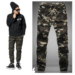 Wholesale Hanging Pants Men - Wholesale-HOT Dnine autumn army fashion hanging crotch jogger pants patchwork harem pants men crotch big Camouflage pants trousers