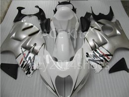Wholesale Hayabusa Fairing White Silver - 5 free gifts New ABS motorcycle Fairing Kits 100% Fit For SUZUKI GSXR1300 Hayabusa 1997-2007 good nice Silver White no.a21