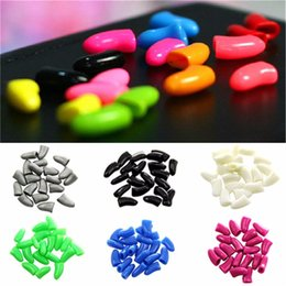 Wholesale Wholesale Toxic Glue - 20 Pcs  Bag Colorful Soft Cat Dog Nail Caps Non-Toxic Kitten Puppy Paw Claw Covers Pet Nail Control Protector With Adhesive Glue