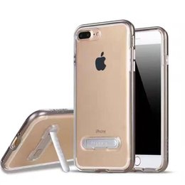 Wholesale Covered Magnetic Closure - For iPhone 5S 6 6S 7 Plus Samsung S6 S7 edge Plus SGP Transparent Soft TPU Case Magnetic Closure Kickstand Cover With Opp Bag