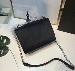 Wholesale twist handle - High Quality Genuine water ripple Leather Capucines Women Top-Handle Shell bag Women Shoulder Bag Twist BD#L2 Silver Chains Bag