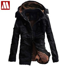Wholesale Long Jackets Low Prices - Wholesale- 2016 New Fashion Men's Fleece Faux Fur Winter Coat Hoodies Parka Overcoat Big size Cotton Jacket lowest price Free shipping 5XL