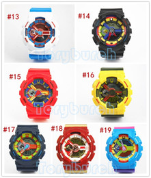 Wholesale Multi Watches - 5pcs lot relogio G110 men's sports watches, LED chronograph wristwatch, military watch, digital watch, good gift for men & boy, dropship