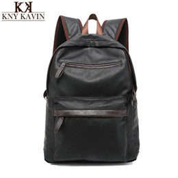 Wholesale Waxed Backpack - Wholesale- 2016 New Arrival Oil Wax PU Leather Backpack For Men Western College Style Bags Men's Casual Backpack & Travel Bags For women
