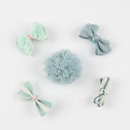 Wholesale mini flower clips - 5Pcs   Sets Of Hairpin Baby Girl Hairpin Bow Flower Mini Cute Perspective Star Child Jewelry Hot Sale