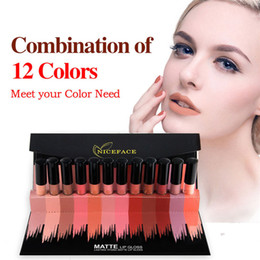 Wholesale Lipstick Making Set - 12PCS Set Liquid Matte Lipstick Cosmetics Makeup Nude Lip Lipsticks Metallic Lip Gloss Stick Make up Lips Lipgloss 2803029