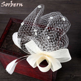Wholesale Ladies Hats Vintage Feathers - Retail Wedding Headpiece Veils Holiday Fascinator Cocktail Hat For Women French Veiling Hair Headband Vintage Fashion Lady Party Accessory