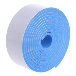 Wholesale Rubber Bumper Strips - Wholesale- Table Edge Protection Bumper Strip Baby Safety Protector Plane Strips 200*3.5CM PE Rubber