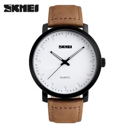 Wholesale Mens Ceramic Watch For Sale - atch repair tools for sale SKMEI Brand Luxury Men Watch Fashion Casual Watches Relogio Masculino Genuine Leather 30m Waterproof Mens Quar...