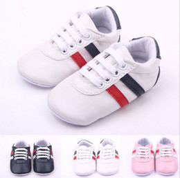Wholesale Vintage Girls Shoes - Vintage Classic Children Baby Kids Boy Girl Floor Shoes Non-Slip Soft Toddlers First Walkers Striped