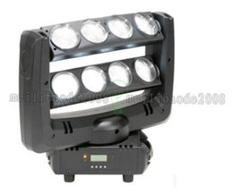 Wholesale Moving Led Wash - 2017 NEW DJ LED spider moving head beam wash light 8x10W RGBW 4in1 White stage lighting100W multi-color change DMX controller MYY