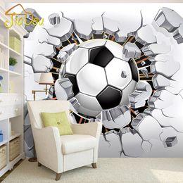 paesaggistica naturale Sconti All'ingrosso-3D Soccer Wallpaper Sfondo Sport Murale Soggiorno Divano Camera da letto Football TV Sfondo personalizzato di qualsiasi dimensione Carta da parati murale