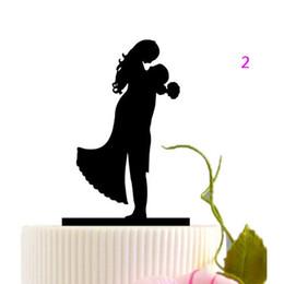 Wholesale Wedding Topper Silhouette - Creative Wedding Cake Topper Silhouette Bride and Groom Elegant and romantic MR & MRS Cake Topper Decoration ZA3012