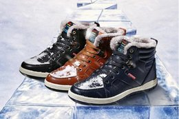 Wholesale Boots Men New - 2017 Winter New Men High-Top Cotton shoes Outdoor Sport Keep warm Ankle Boots Fashion Men Flat Boots Free Shipping