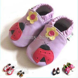 Wholesale Hook Loop Dots - HOT SALE Genuine leather Baby soft sole shoes - Infant Booties shoes Baby Prewalker First walker shoes,SHEEP leather shoes sandals bootie