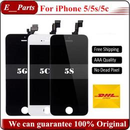 Iphone grade aaa en Ligne-(100% d'origine) Pas de copie pour iPhone 5 5s 5c lcd Écran LCD d'origine Touch Digitizer + Câble d'origine Grade AAA + Remplacement complet