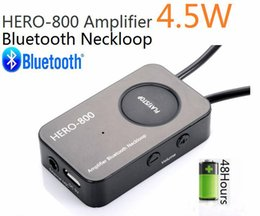 Wholesale Bluetooth Neckloop - HERO-800 4.5 Watt Powerful Amplifier Professional Bluetooth Neckloop with mini wireless earpiece Super Mini Micro