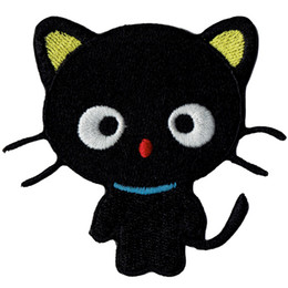 Wholesale Favorite Cartoons - Fashion CUTE BLACK CAT CARTOON Embroidered Iron on Patch Kids Favorite Badge DIY Applique Clothing Patch Emblem G0421 Free Shipping