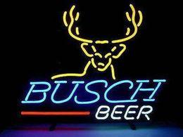 "Wholesale Deer Neon Sign - 17""x14"" New Deer Real Glass Neon Light Sign Home Beer Bar Pub Garage Sign NR"