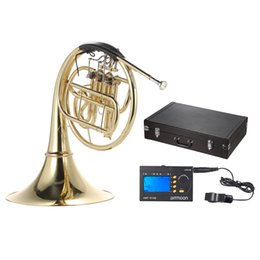 Wholesale tuner keys - wholesale ammoon French Horn B Bb Flat 3 Key with ammoon AMT-01GB 3in1 Metro-Tuner